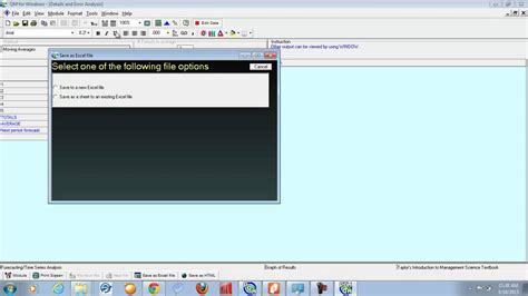 tutorial de qm for windows utilizaci 243 n de pom qm para windows para crear pronosticos