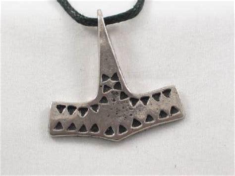 Handmade Mjolnir - handmade hammered mjolnir pewter pendant viking