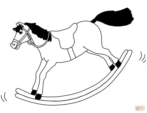 coloring pages of rocking horses rocking coloring page free printable coloring pages
