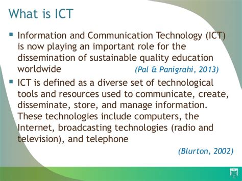 ict information communication technology the role of information communication technology ict in