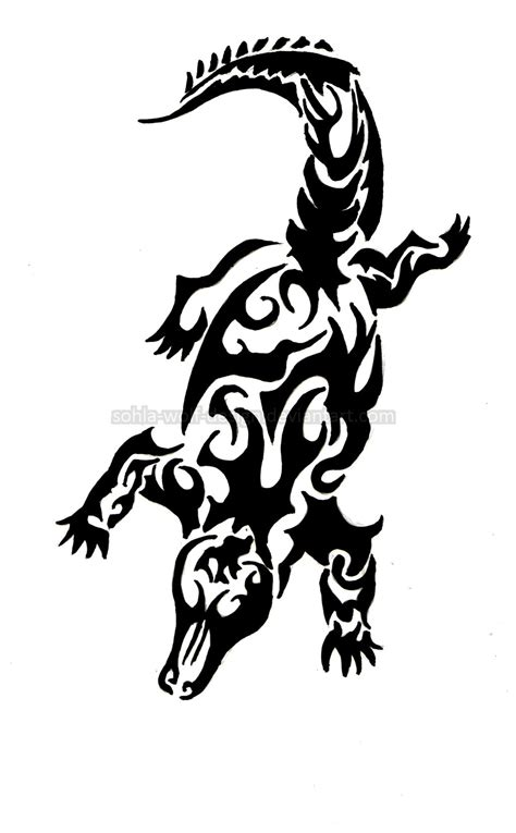 tribal crocodile tattoo designs tribal crocodile