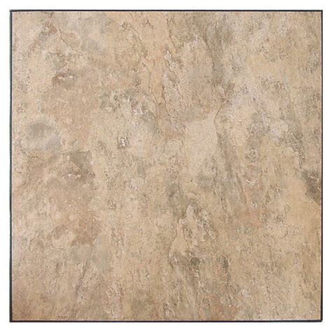 shop novalis home fashion 10 piece almond slate peel and stick vinyl tile at lowes com