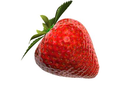 3d 3 Strawberry strawberry on white background 3d illustra 3d model rigged obj fbx c4d stl cgtrader