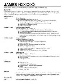 Commercial Carpenter Sle Resume by Carpenters Resume Exles Construction Resumes Livecareer