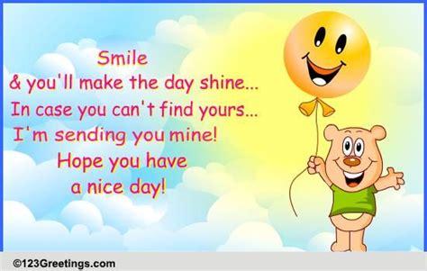 sending you a smile free send a smile ecards greeting