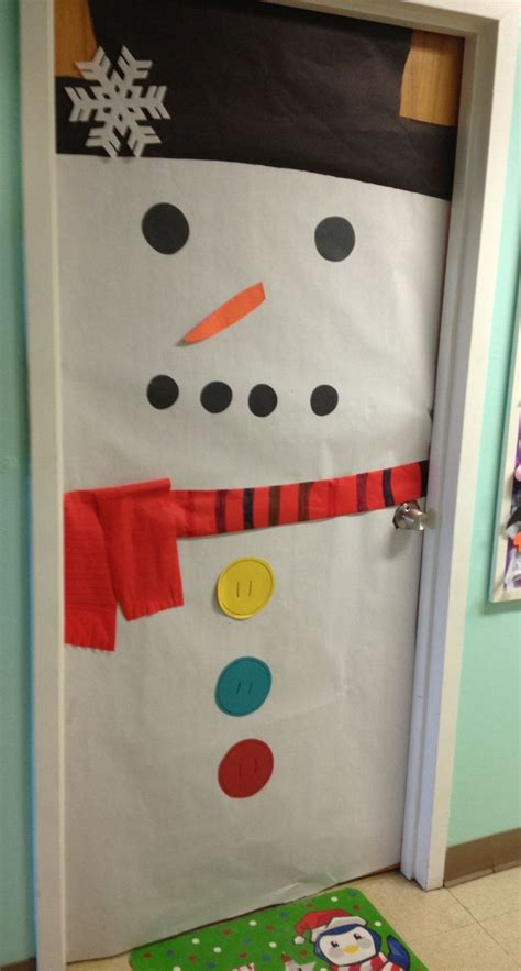 snowman door school stuff pinterest snowflakes