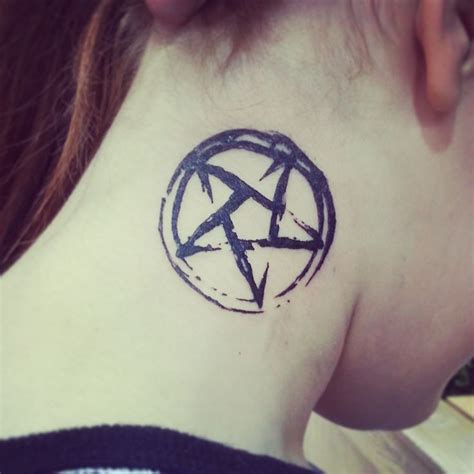 pentagon tattoo best 25 pentagram ideas on pentacle