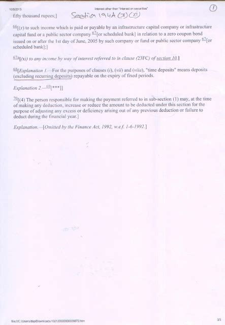 section 13 income tax act sb order 13 2015 regarding deduction of tds on interest