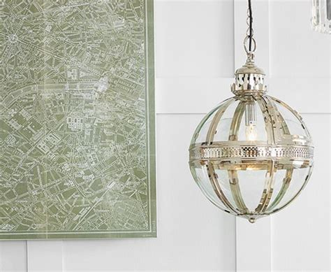 oule filament e14 1264 nickel and clear glass electrified ceiling pendant light