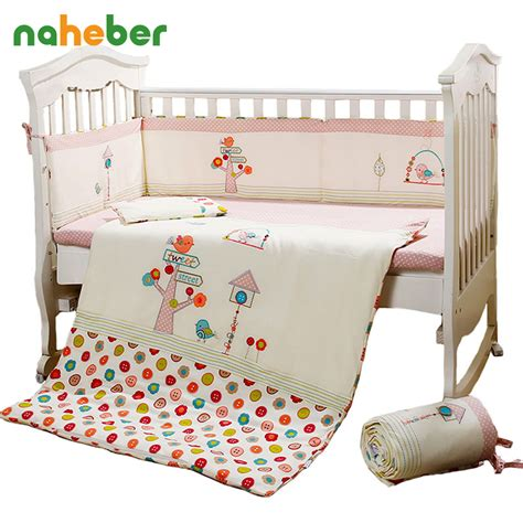 Duvet For Crib by Aliexpress Buy 7pcs Pink Baby Crib Bedding Set For