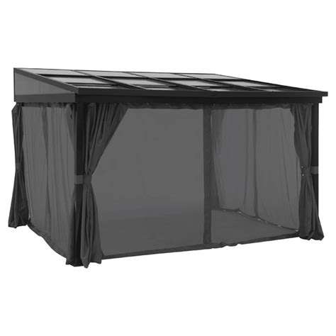 uberhaus gazebo curtains 10 x 10 retractable wall sun shelter with curtains 10 x 12