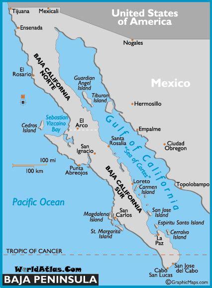 map of mexico baja map of baja peninsula mexico maps baja peninsula facts