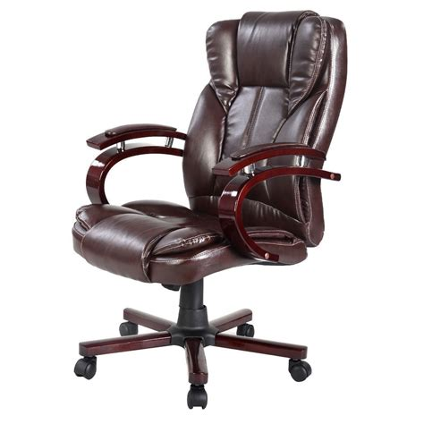 affordable variety ergonomic executive office chair brown