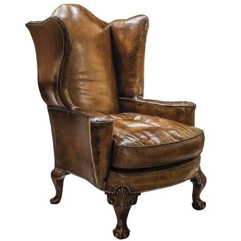 queen anne leather recliner large queen anne leather armchair for sale at 1stdibs