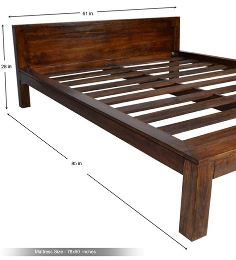 Bed Height by Basil Low Height Size Bed By Mudramark Sized Furniture Pepperfry Product