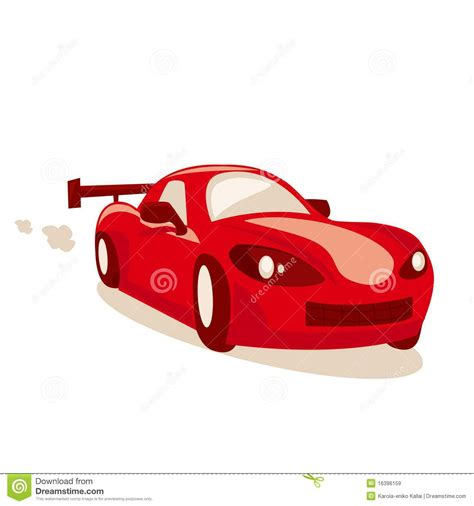 cartoon race car cartoon race car royalty free stock images image 16396159