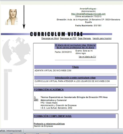 Modelo Curriculum Europeo Word Descargar Curriculum Vitae Europeo Descargar Newhairstylesformen2014