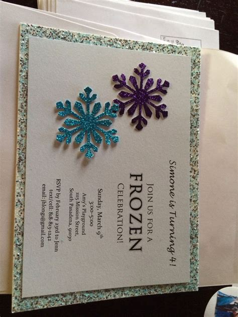 Handmade Frozen Invitations - handmade frozen invitations www imgkid the image