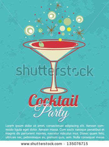 vintage cocktail invitations vintage cocktail invitation poster stock vector