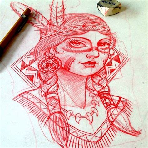 tattoo girl sketch my indian girl tattoo sketch by xam tattoos i like