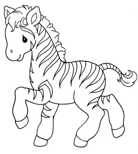 Baby Zebra Coloring Pages sweet zebra coloring page print