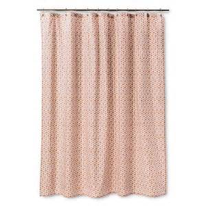 threshold shower curtain pinwheel coral target