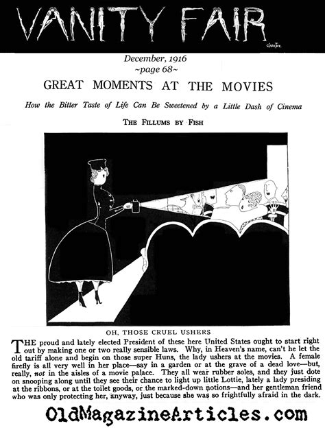 Vanity Fair Articles by Fish 1916 Conde Nast By Fish 1916