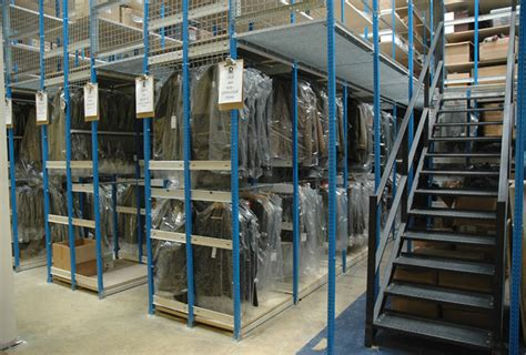 Clothes Racking System mezzanine storage solutions 2 tier shelving raised aisle racks
