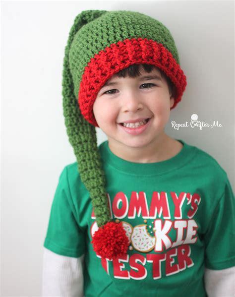 free pattern elf hat crochet elf hat pattern repeat crafter me