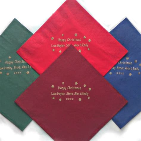 new years napkins napkins 50 personalised paper serviettes
