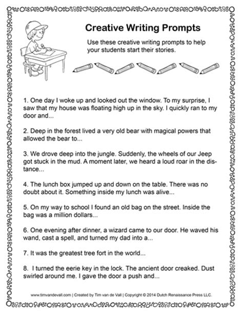 creative writing template tim de vall comics printables for