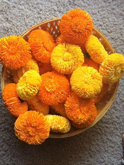 marigold flower with crepe paper marigold flower crepe