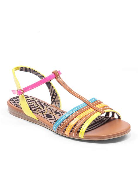 multi colored wedge sandals deniece multicolored tstrap wedge sandals
