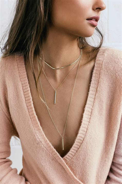 Necklace Layered Choker chic gold necklace choker necklace layered necklace
