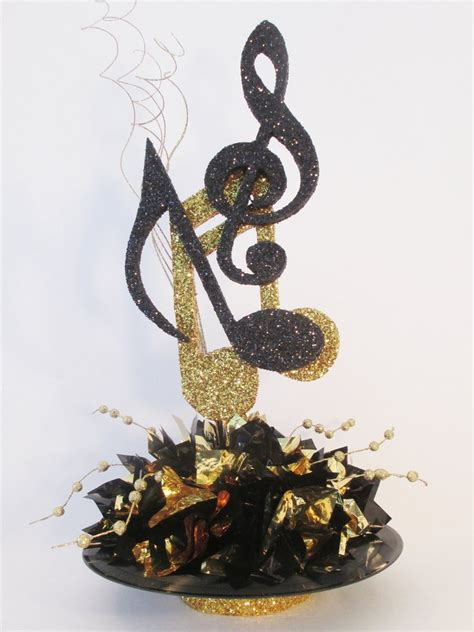 musical notes on record centerpiece designs by ginny
