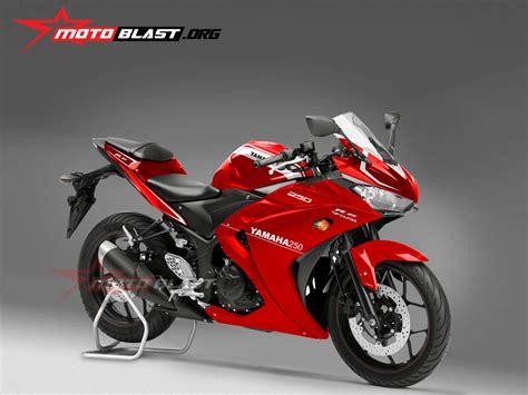 New Fd110 Merah Hitam modif striping yamaha r25 polos simpel motoblast