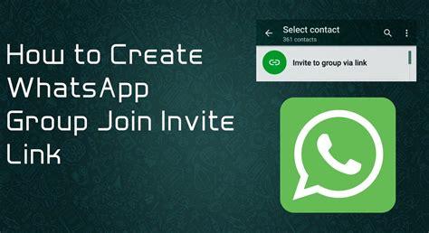 membuat link whatsapp cara gang menciptakan link tautan grup whatsapp