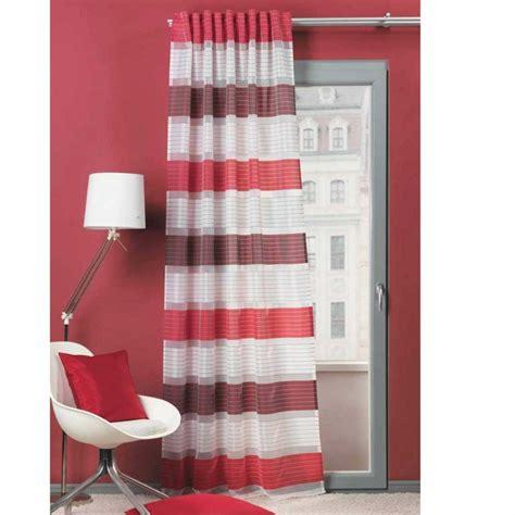 gardinen rot fertigschal dekoschal fertiggardine 140x245cm querstreifen