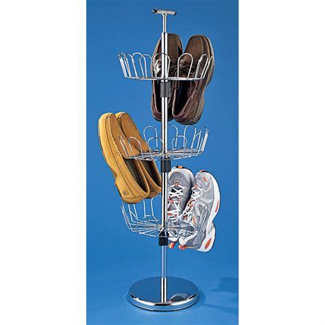 revolving shoe organizer chrome plated revolving shoe organizer 105976