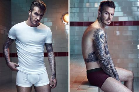 Hm Jegging Big D Purple david beckham strips for new h m advert oh