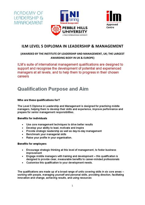 Offer Letter Sle In Malaysia mba in leadership management with ilm level 5 diploma in