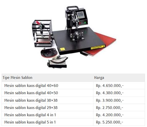 Alat Sablon Digital harga mesin sablon digital