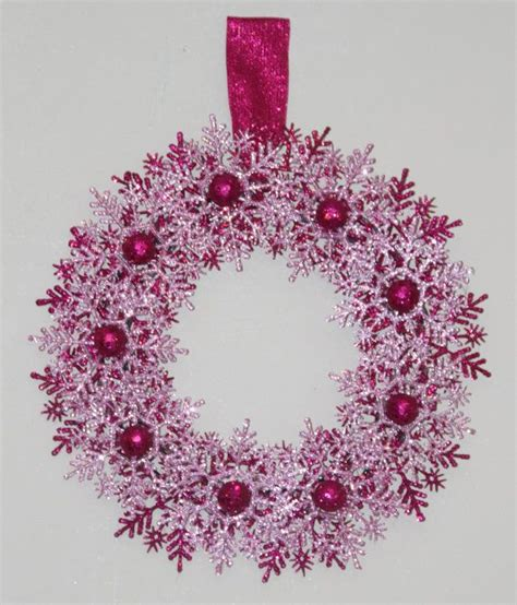 pink ornaments clearance 1000 ideas about snowflake wreath on wreaths