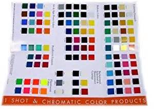 amazon com 1 shot color chart set automotive body