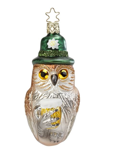inge glas bavarian owl with beer blown glass german