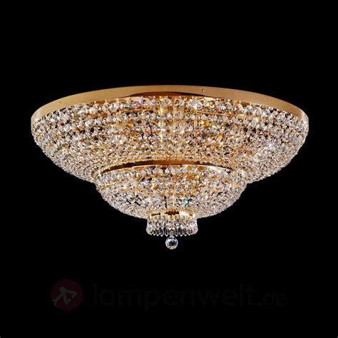 vergoldete kristall deckenleuchte sherata 18 fl 7254565 - Kristall Deckenleuchte