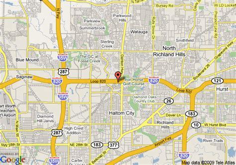 where is haltom city texas on the map map of quality inn lakeside haltom city