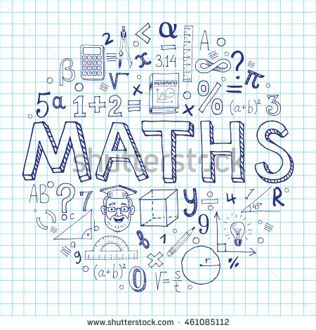 doodle maths for schools sign in creative vector maths background with doodle