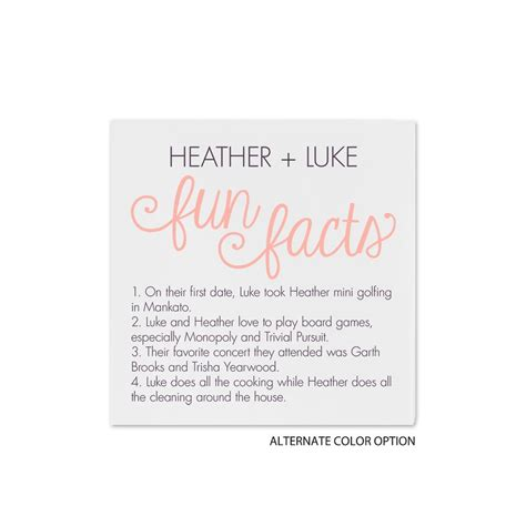 Wedding Facts by Facts Cocktail Napkin Invitations By