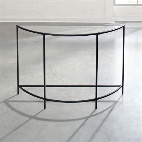 glass sofa table modern soft modern black glass sofa table